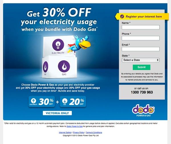 Ejemplo de landing page estrategia online emprendimiento e innovacion Innokabi dodo