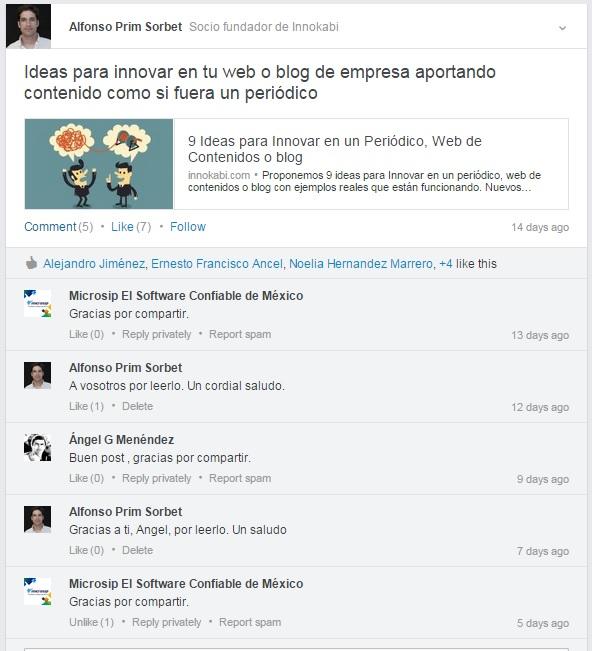 Entrevista de problema contactar personas en redes sociales grupos de Linkedin