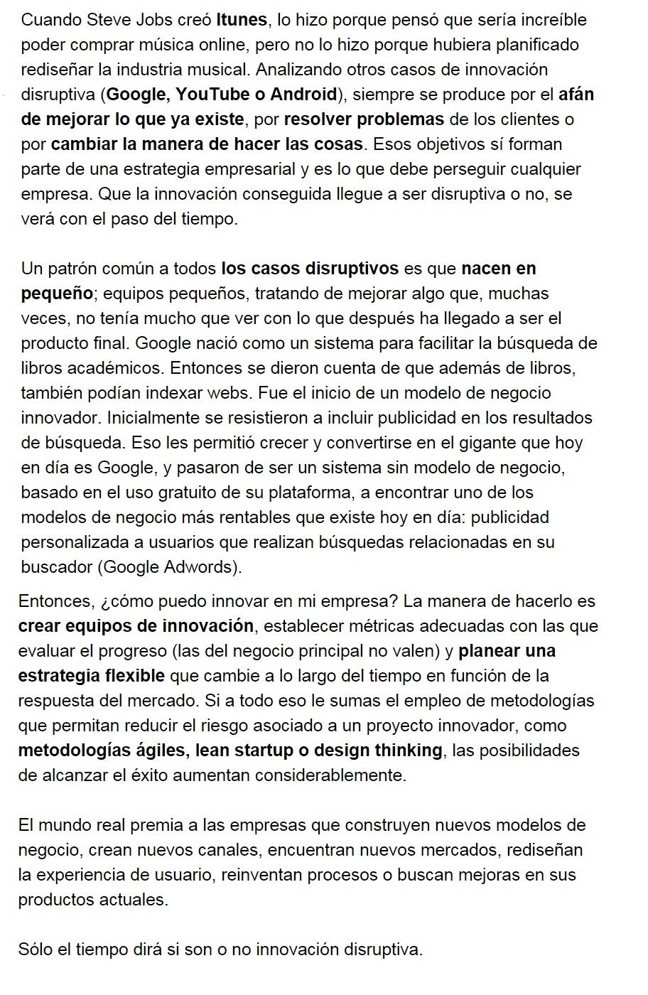 Innovación disruptiva en Diario de Navarra por Alfonso Prim blog innokabi parte b