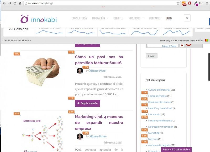 Como mejorar mi web con la extension de Chrome de Google Analytics Innokabi blog