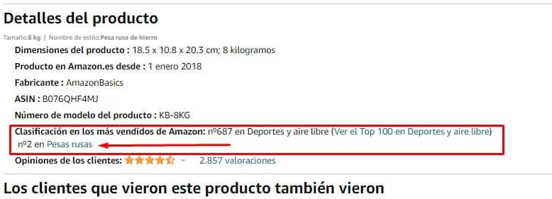 Detalle producto Amazon nichos de negocio Innokabi