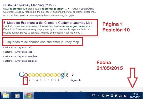Innokabi Posicion 10 Como posicionar un post en la primera página de Google 21 de mayo 2015 estrategias de SEO para dummies