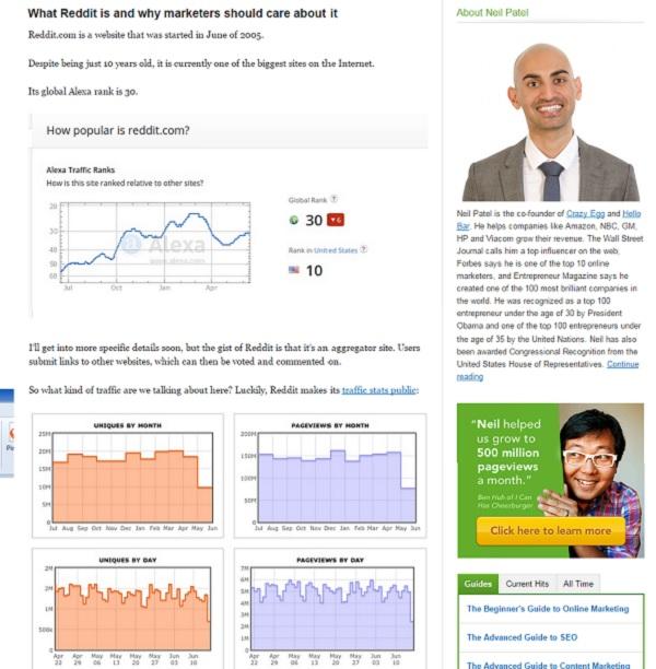 Neil Patel Quicksprout Marketing de contenidos para negocios aburridos Innokabi lean