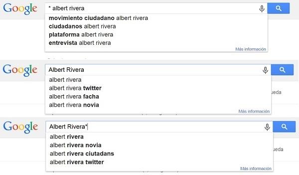 Ejemplo de Google Autocomplete para Albert Rivera TOTAL