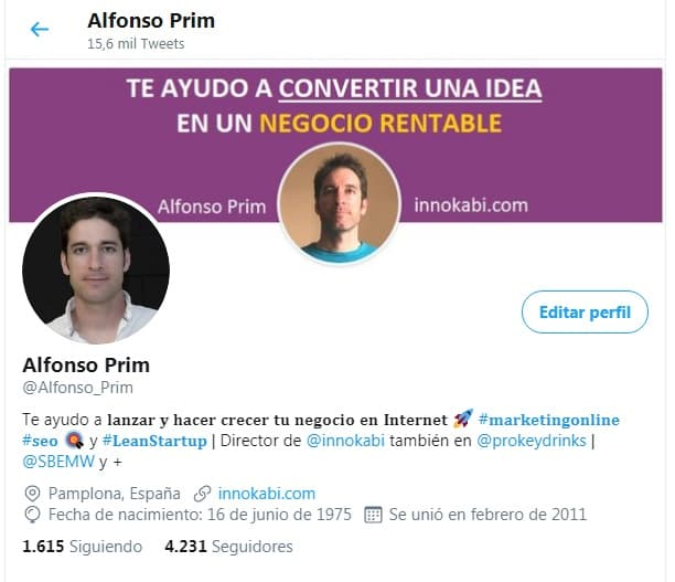 Perfil Twitter Alfonso Prim Innokabi
