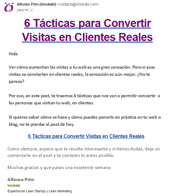 Newsletter Innokabi 10 tacticas de lean marketing para startups que puedes aplicar en tu empresa ya