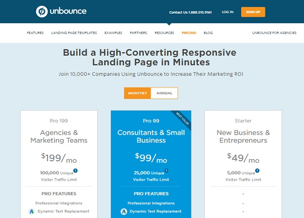 Unbounce Ejemplos de Neuro marketing Innokabi marketing online test AB