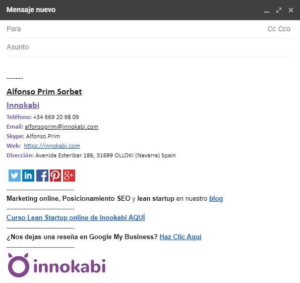 Ejemplo firma correo Innokabi