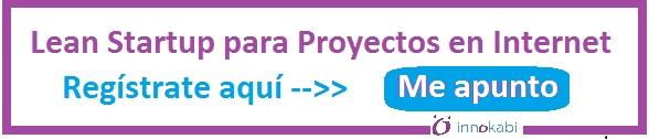 Banner curso lean startup para proyectos en internet