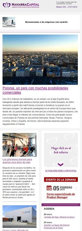 Ejemplo boletin mailing Navarra Capital