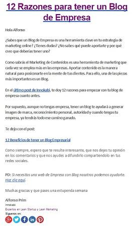 ejemplos de newsletter innokabi