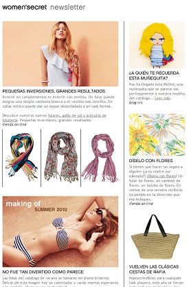 Ejemplo newsletter women secret