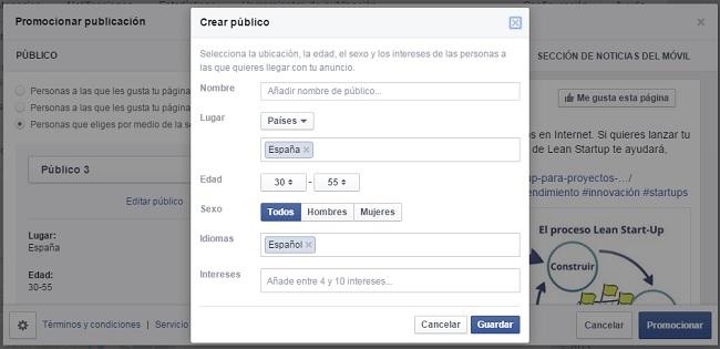 Segmentacion Publico anuncios en Facebook Ads