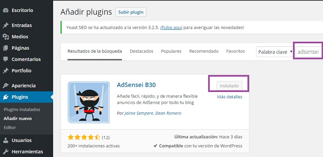 Adsensei plugin wordpress blogger3cero