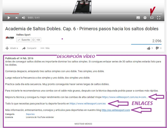 SEO en Youtube descripcion video