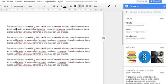 Google Docs Explorar contenido bibliografico