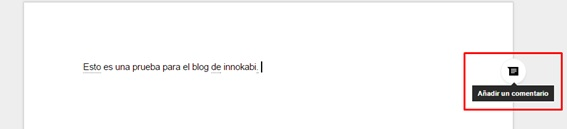 Google Docs insertar comentarios