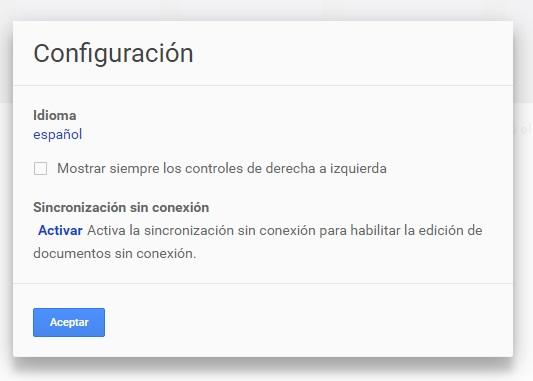 Google Docs para trabajar sin conexion