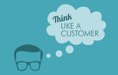 Piensa en el cliente y como el cliente
