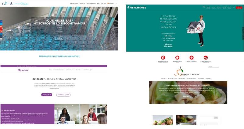 Ejemplos de webs creadas con divi por innokabi