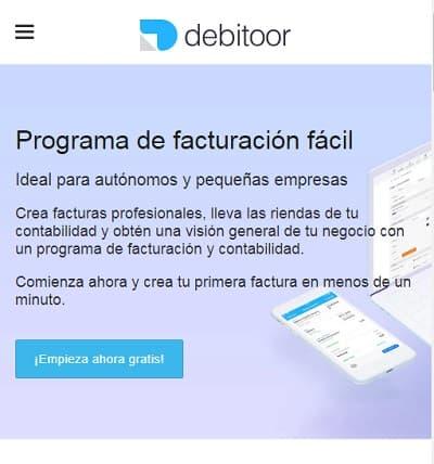 Debitoor app