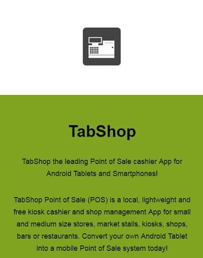 TabShop app