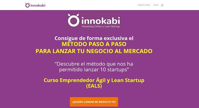 landing curso lean startup online innokabi