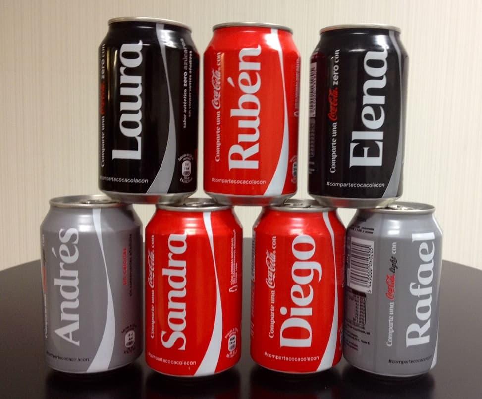 latas cocacola personalizadas