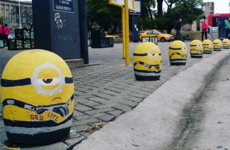 minions de piedra street marketing